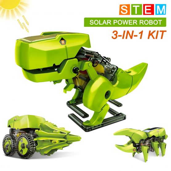 Solar Robot Kit 3-in-1 STEM Projects Science Building Dinosaur Set